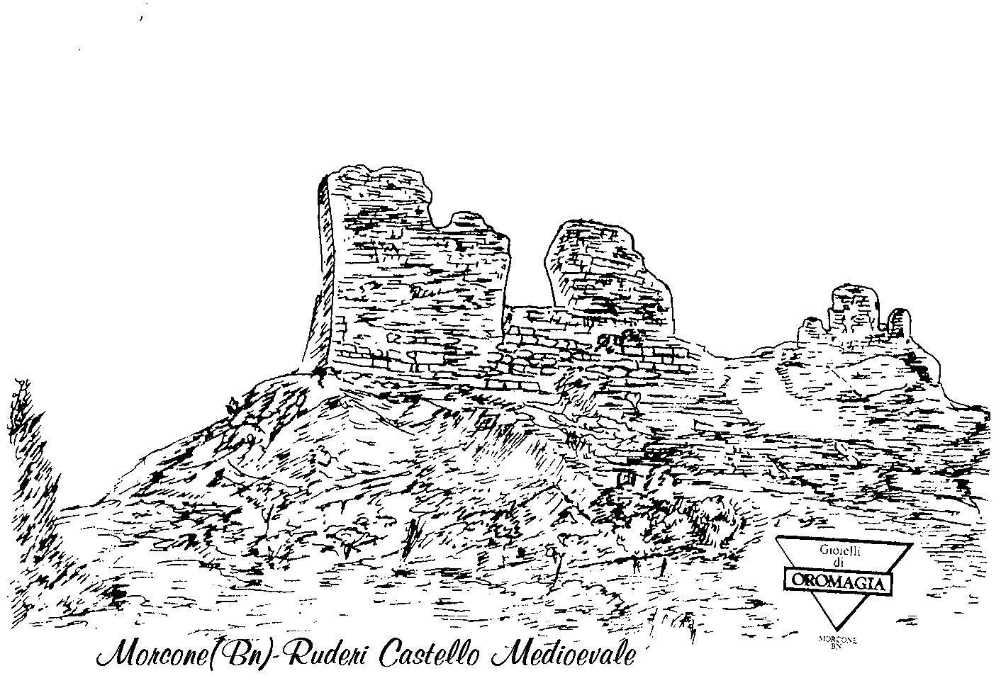 ruderi castello medioevale morcone in argento