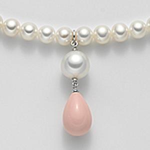 Collana perle e corallo rosa