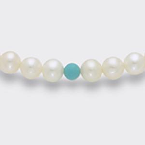 Collana perle e turchese