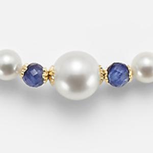 Collana perle e zaffiro