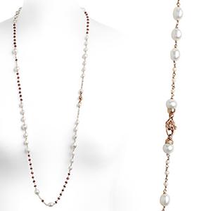 Collana argento e perle