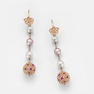Orecchini perle e zirconi