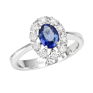 Anello Prestige Selection oro bianco diamanti e zaffiro