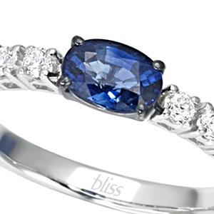Anello Prestige Selection diamanti e zaffiro blu - Bliss