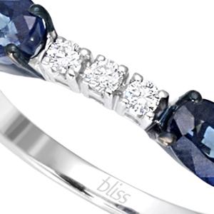 Anello Prestige Selection diamanti e due zaffiri