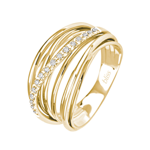 nouveau style de 2019 économiser jusqu'à 60% magasin en ligne Anello Fascino oro giallo e diamanti - Bliss