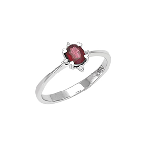 Anello Intrigo diamanti e rubino